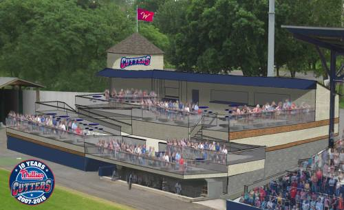 Williamsport Crosscutters New Deck Rendering