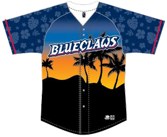 Lakewood BlueClaws Luau Jersey