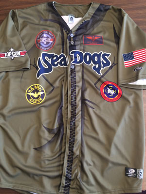 Portland Sea Dogs Top Gun Night Jerseys