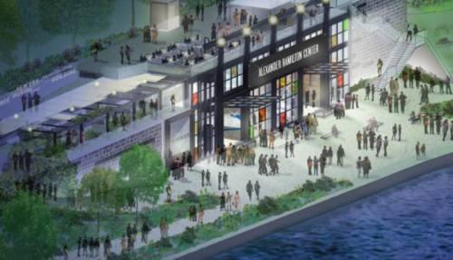 Alexander Hamilton Center rendering, Ralph Appelbaum Associates, Inc.