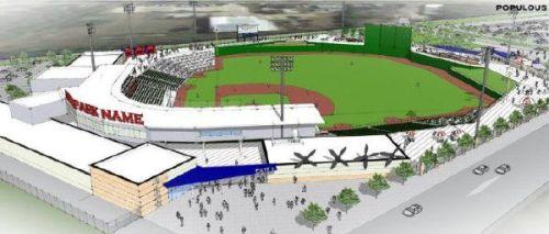 Fayetteville Ballpark Rendering 3