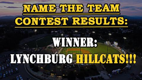 Lynchburg Hillcats Rename the Team Results