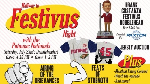 Potomac Nationals Festivus Night