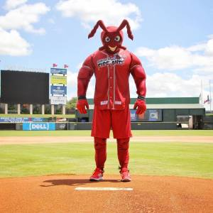 To-be-named, one-night-only mascot, Round Rock Express Facebook photo