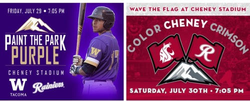 Tacoma Rainiers UW and WSU Nights
