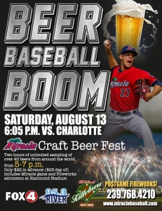 Fort Myers Miracle Beer Baseball Boom