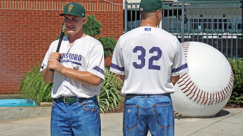 Greensboro Grasshoppers Jeansboro Night Unis