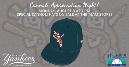 Staten Island Yankees Cannoli Appreciation Night