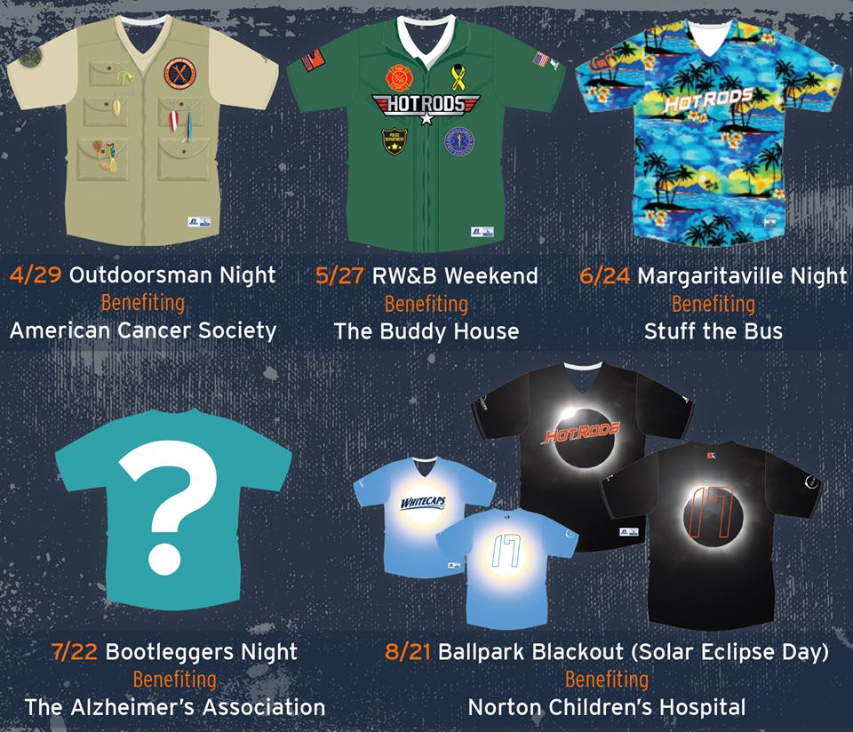 Hot Rods Announce 2017 Promo Schedule