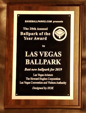 Image result for las vegas ballpark award
